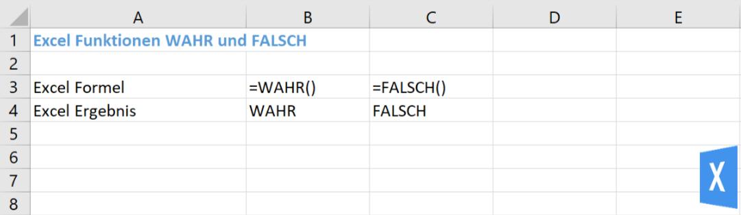 Excel Insights - Excel Bedingungen: Beispiel für die Anwendung der Funktionen WAHR und FALSCH